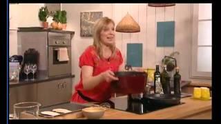 H Ντίνα Νικολάου μαγειρεύει στην Γαλλική Τηλεόραση 6 (Α Μερος)