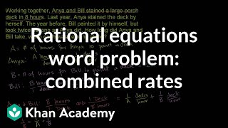 Applying Rational Equations 2