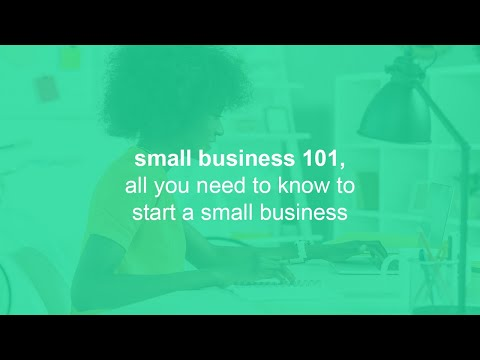 small business 101, all you need to know to start a small business ...