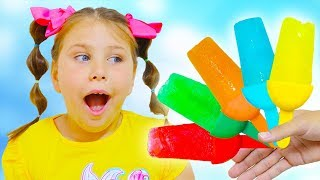 Colors Song - Learn Colors - Rainbow Popsicles with Ali and Adriana