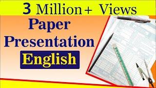 English Paper Presentation Tips For Students | Exam Tips | LetsTute