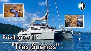 "Catamaran For Sale   2011 Privilege 615   ""Tres Suenos"" Walkthrough in the USVI"