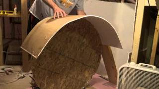 How to Curve or Bend Drywall | Curving Drywall Bending Tutorial