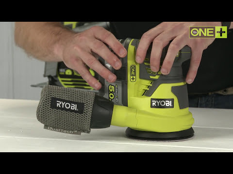Ryobi ONE+ 18V Random Orbital Sander Introduction video