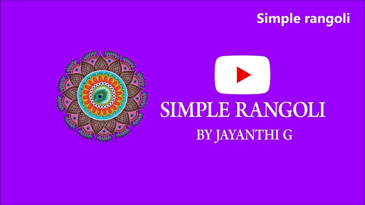 flower kolam rangoli design with dots 9*5 by simple rangoli