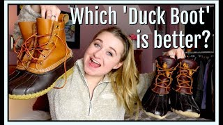 L.L.Bean Vs. Sperry | Which Duck Boot Is Better?