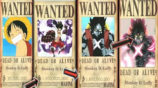 Luffy Evolution Bounties From Start Until The End Of One Piece-One Piece Chapter 905+