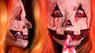JACK-O-LANTERN Halloween Makeup Tutorial