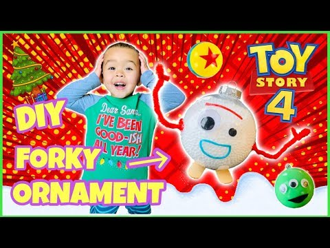 How To Make Forky Tree Ornaments | DIY Toy Story 4 Disney Christmas Decorations