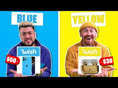 BUYING Everything In ONE COLOR On Wish For 24 Hours CHALLENGE!