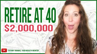 Retire At 40 With 2 Million Portfolio [Never Worry About Money Again]