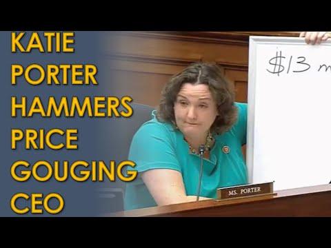 Katie Porter HAMMERS Big Pharma Celgene CEO for Price Gouging Revlimid Medication