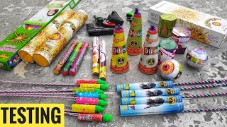 Testing New And Unique Diwali Firework Stash 2019,firecrackers Testing,Diwali Crackers Testing||CY