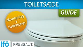 Udestående Montering af gulvstående toilet med P-lås CH09