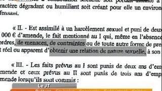 Une Nouvelle Loi Contre Le Harcèlement Sexuel?