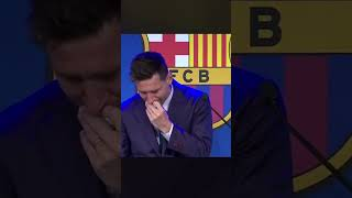 DEVASTATED MESSI SAYS GOODBYE TO BARCA 😢💔🐐 | MESSI PRESS CONFERENCE INTERVIEW #Shorts