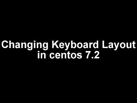 change keyboard layout on CentOS 7.2