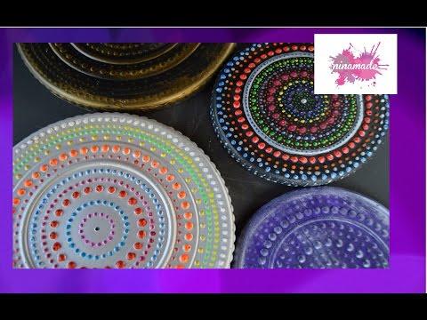 DIY. Salvamanteles estilo Mandala  // Trivet Mandala.