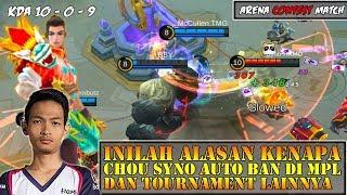 Inilah Alasan Kenapa Chou SYNO Auto Ban Di MPL & Tournament Lainnya - Mobile Legends