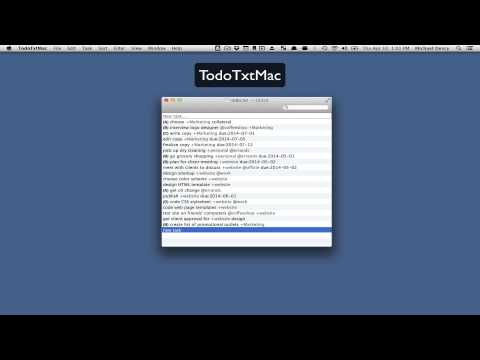 TodoTxtMac Manages Your Plain Text To-Do List