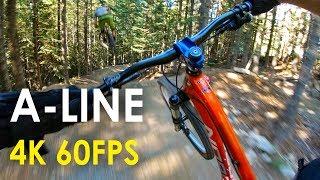 A-Line with GoPro Hero 6! - Whistler Bike Park 4K 60fps | Jordan Boostmaster