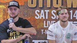Subscribe for updates - http://goo.gl/meA2GB  Tyson Fury vs. Otto Wallin FULL POST FIGHT PRESS CONFERENCE | Top Rank Boxing  #Boxing  Enter The KO Cup - http://bit.ly/enterthekocup More boxing news 24/7: http://goo.gl/aJFtws Follow on Twitter: http://goo.gl/VDYVMP Like on Facebook: http://goo.gl/mI5B64  SecondsOut is a world leader in boxing entertainment since 1999.  Part of the Knockout TV YouTube MCN - http://goo.gl/t77GMc