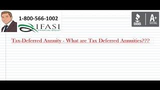 Tax Deferred Annuity - Tax Deferred Annuity Fully Explained