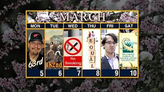 Calendar: Week of March 5
