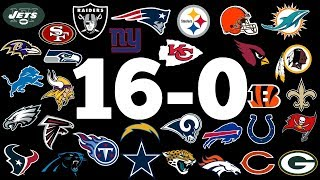 10 NFL Teams That ALMOST Incredibly Went 16-0