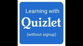 Quizlet App -  Learning by Quizlet App without signup.Any student can learn from quizplet.