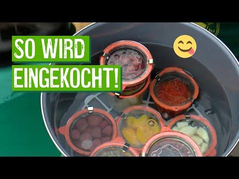 Wohin mit der Ernte? Obst und Gemüse einkochen.