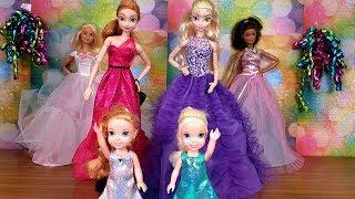 Fashion Show ! Elsa and Anna toddlers - Barbie - fashionista - dress up