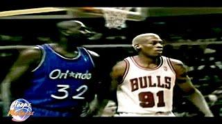 Dennis RODMAN vs Shaquille O'NEAL - 1996 Playoffs Game 2
