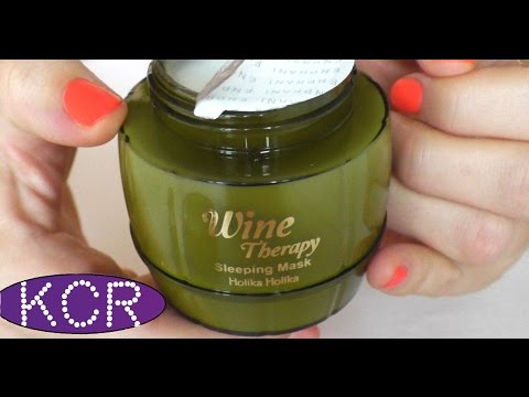Красота с ПЕРВОГО нанесения - Wine Therapy Sleeping Mask White Wine Holika Holika