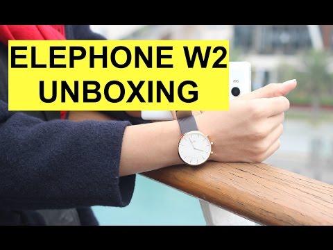 Foto Elephone W2 Smartwatch Unboxing e collegamento