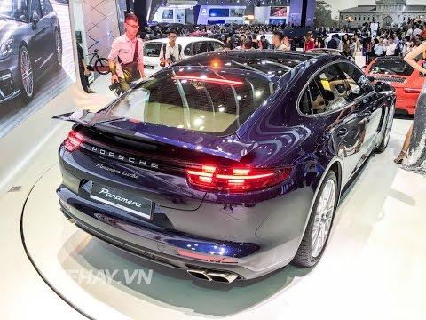 [XEHAY.VN] Chi tiết siêu phẩm Porsche Panamera Turbo 10,7 tỷ tại VIMS 2016