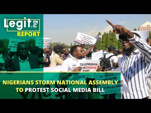 Nigerians storm National Assembly to protest social media bill | Legit TV