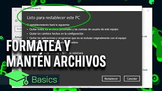 FORMATEA tu PC WINDOWS sin perder NINGÚN ARCHIVO