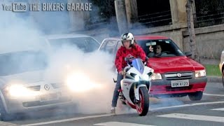 Yamaha R1 INSANE sound - Straight pipes, Burnouts and revs!