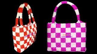 পুতির দাবা ব্যাগ/ How to make beaded Chess bag(part-01)/ beaded new design bag