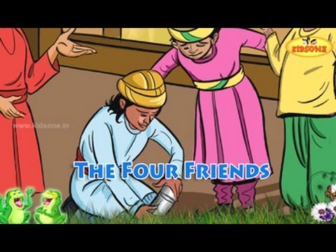 The Four Friends || English Moral Story For Kids