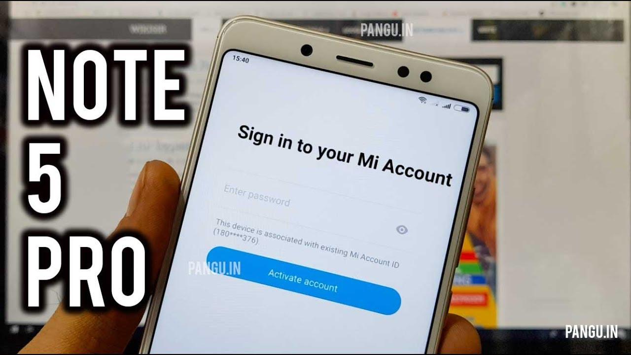Mi Cloud Unlock   Xiaomi Redmi Note 5 Pro   Mi Account Bypass
