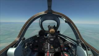 DCS МиГ-15 Бис. Тройная бочка у земли.