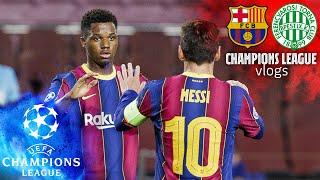 ? BACK WITH A BANG! The UCL returns!! | FC Barcelona VLOG