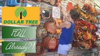 Fall Crap Already?!  Dollar Tree Shop With Me!