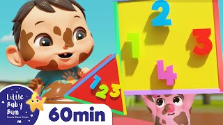 Shapes Colors and Numbers Song | +More Nursery Rhymes & Kids Songs | ABCs and 123s | Little Baby Bum