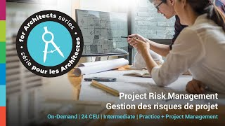 Introduction to Project Risk for Architects