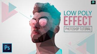 Low Poly Effect Portrait Photoshop Tutorial | Low Poly Vector Art