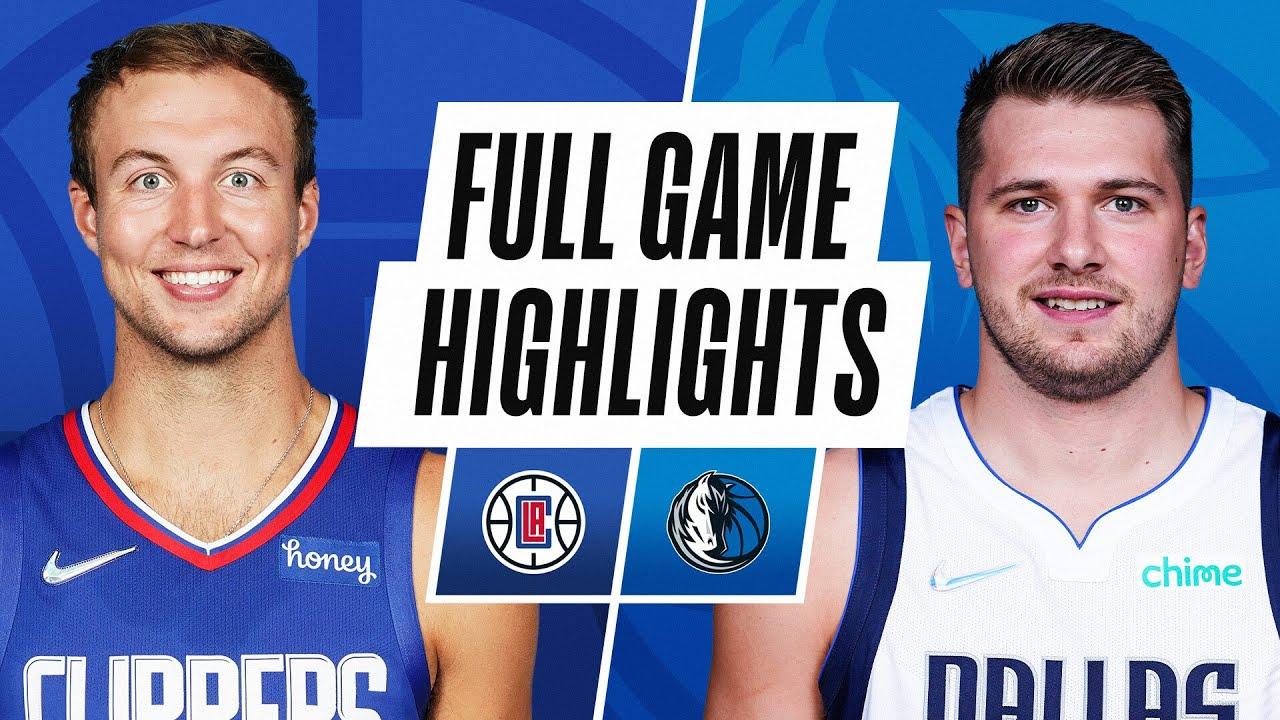 CLIPPERS at MAVERICKS | NBA PRESEASON FULL GAME HIGHLIGHTS | October 8, 2021