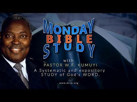 Bible Study (March 25, 2019): Total Redemption from Christ Our Saviour
